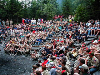 troop 324 at camp alpine 2003